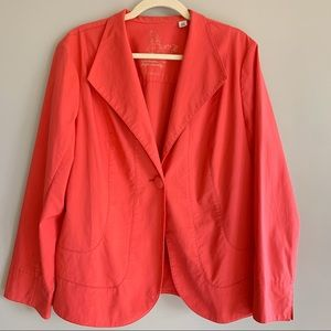 Coldwater Creek Coral Blazer Jacket Stretch 18W